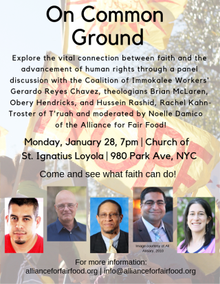 On Common Ground Jan 28 flyer