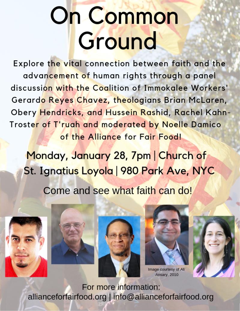 On Common Ground Jan 28 flyer